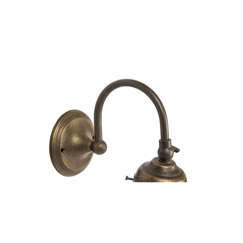 Applique da muro 1 luce ottone brunito curvo vintage for Lampada arredo