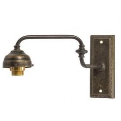 Applique da muro 1 luce ottone brunito snodabile vintage lampada parete luce