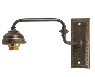 Lampada Vintage Da Parete : Applique da muro 1 luce ottone brunito snodabile vintage lampada