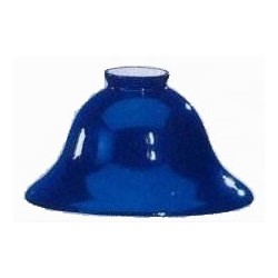 Paralume vetro 18cm campana blu ricambio lampada lampadario