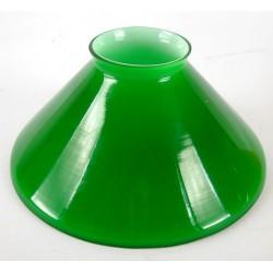 Paralume vetro 15cm cono verde ricambio lampada lampadario