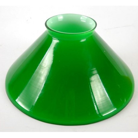 Paralume vetro 15cm cono verde ricambio lampada lampadario ...