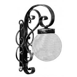 Applique sfera 33cm ferro battuto rustica taverna lampadario palla country