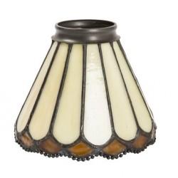Paralume stile Tiffany 13cm ambra ottone lampada applique