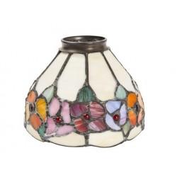 Paralume stile Tiffany 13cm fiori decori lampada applique