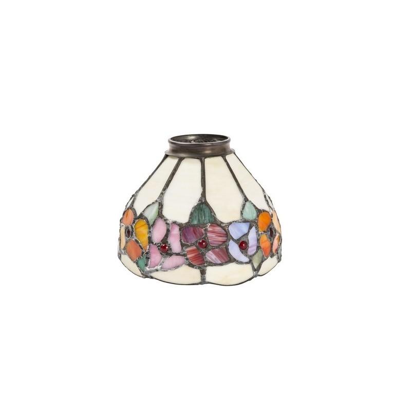 Paralume stile tiffany 13cm fiori decori lampada applique for Piccoli disegni cottage