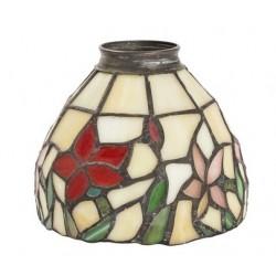 Paralume stile Tiffany 13cm fiori rossi lampada applique