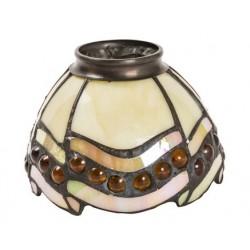 Paralume stile Tiffany 13cm gemme ambra lampada applique