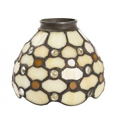Paralume stile Tiffany 13cm gemme lampada applique