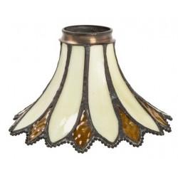 Paralume stile Tiffany 17cm ambra fiore lampada applique
