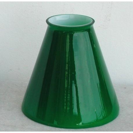 Paralume 11cm vetro cono verde ricambio lampada lampadario ...