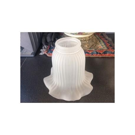 Paralume 12cm vetro bianco satinato ricambio lampada lampadario ...