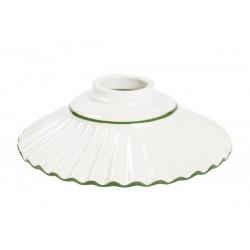 Paralume 20cm piatto ceramica plissettato verde lampadario