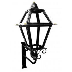 Applique per esterno lanterna con mensola parete ferro battuto