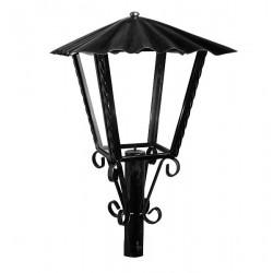Lampione da giardino 28cm lanterna esterno ferro battuto