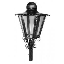 Lampione esagonale da giardino 31cm lanterna esterno ferro battuto