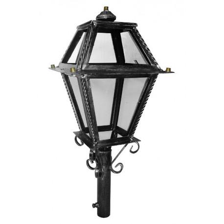 Lampione lanterna doppia da giardino 28cm esterno ferro battuto