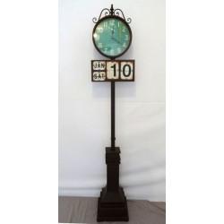 Orologio da stazione calendario colonna pavimento station vintag