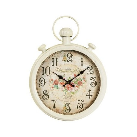 Orologio da parete ferro fiori rose shabby chic london for Orologio shabby chic