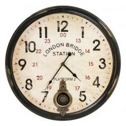 Orologio 57cm da parete pendolo shabby chic Londra stazione