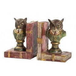 Fermalibri ferma libri gufi gufetti statua reggilibri old england