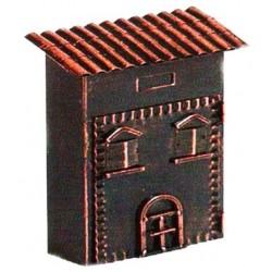 Cassetta postale a casetta rame ramato buca lettere per posta in ferro