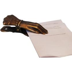 Fermacarte fermaglio mano ottone brunito scrivania ferma carte