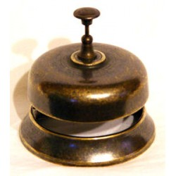 Campanella hotel ottone brunito campana reception