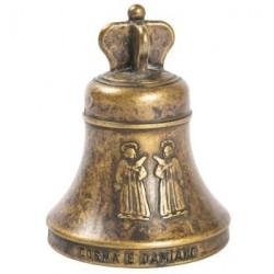 Campanella Santi arte sacra ottone brunito campana da scrivania
