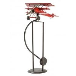 Modellino aereo in latta Barone Rosso dondolo collezionismo