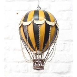 Modellino mongolfiera 33cm latta modellismo collezione