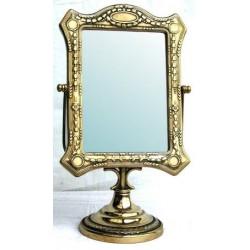 Specchio da appoggio barocco liberty basculante vintage ottone