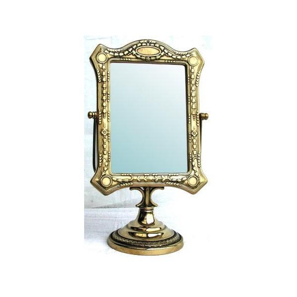 Specchio da appoggio barocco liberty basculante vintage ottone virginia 39 s cottage - Specchio da appoggio ...