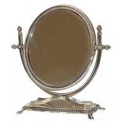 Specchio da tavolo appoggio liberty basculante vintage argento