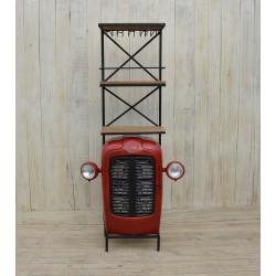 Scaffale mensola ferro radiatore macchina rosso industrial portabottiglie