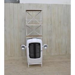 Scaffale mensola ferro radiatore macchina bianco industrial portabottiglie