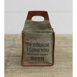 Portabottiglie porta bottiglie industrial vintage cotone ecopelle birra beer