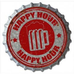 Targa pannello insegna metallo latta tappo pub happy hour