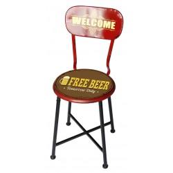 Sedia metallo pub bar ristorante Free beer birra
