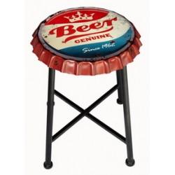Sedia sgabello rotondo tappo pub ristorante bar metallo birra beer genuine