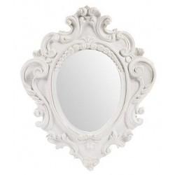 Specchio 38cm vintage bianco barocco shabby chic legno