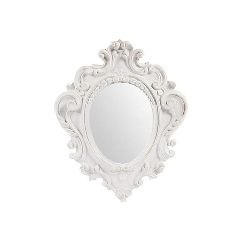 Specchio 38cm vintage bianco barocco shabby chic legno - Virginia\'s ...