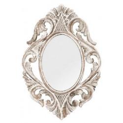 Specchio 60cm vintage legno bianco barocco shabby chic rocaille