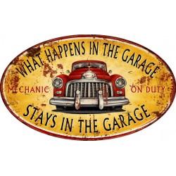 Pannello targa auto d'epoca placca metallo latta garage stampa