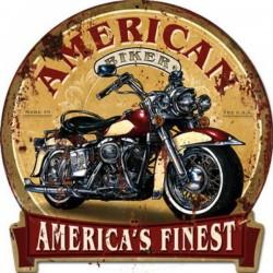 Pannello targa insegna metallo latta moto motocicletta America USA