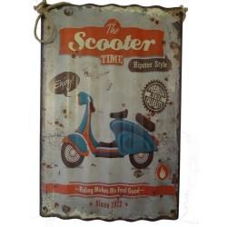Targa in latta pannello insegna scooter vespa vintage arredo