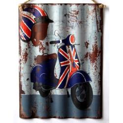 Targa pannello latta Inghilterra vespa bandiera inglese vintage