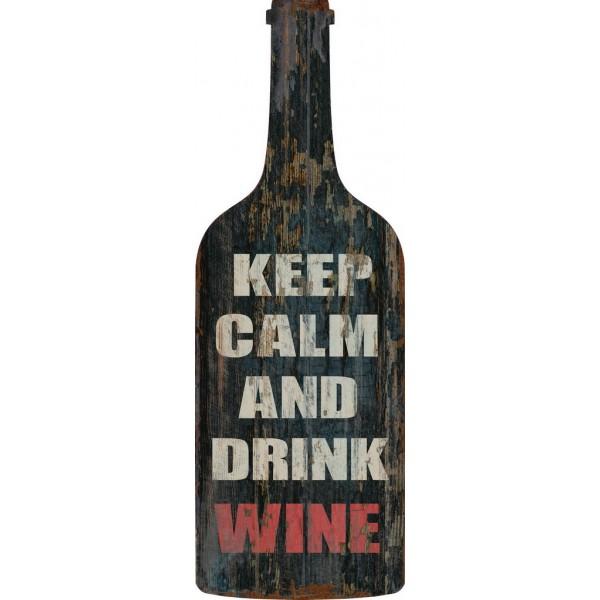 Pannello targa legno placca bottiglia vino insegna pub bar