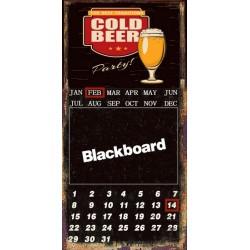 Calendario lavagna latta metallo birra motociclette vintage