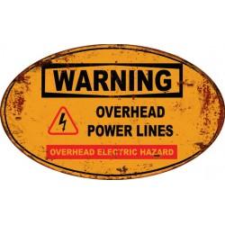 Pannello targa danger pericolo placca metallo latta stampa warning